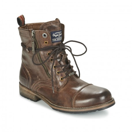PEPE JEANS - Bottines Melting marrons