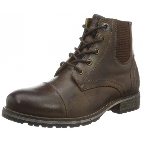 PEPE JEANS - Bottines Melting Elastic marrons