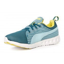 PUMA - Baskets Carson Runner Knit vertes