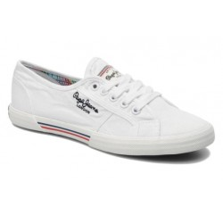 PEPE JEANS - Baskets Aberlady blanches