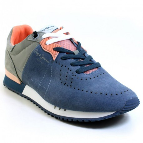 PEPE JEANS - Baskets Tinker Bold bleues