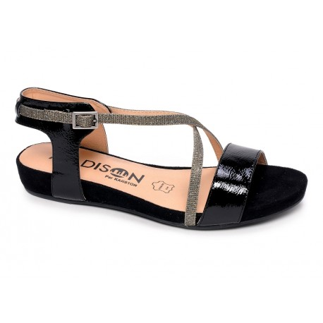 MADISON - Sandales Emax vernies noires
