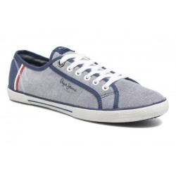 PEPE JEANS - Baskets Aberman Court bleues