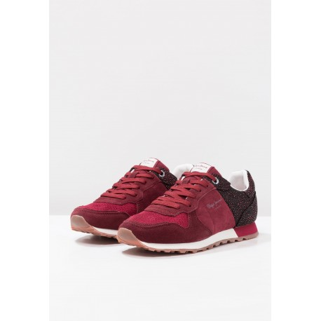 PEPE JEANS - Baskets Verona W Flash bordeaux