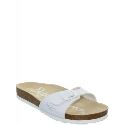 PEPE JEANS - Mules Oban blanches