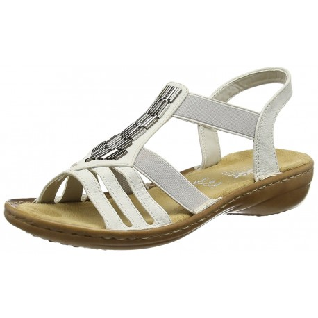 RIEKER - Sandales 60800 blanches