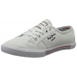 PEPE JEANS - Baskets Aberlady basic blanches
