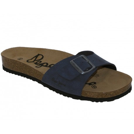 PEPE JEANS - Mules bio bleues