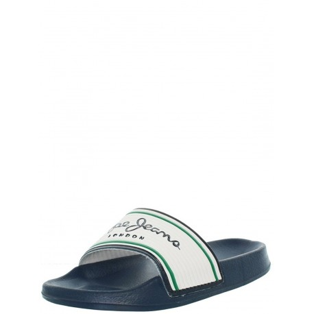 PEPE JEANS - Mules Slider basic blanches