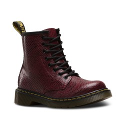 DR MARTENS - Bottines Delaney Viper bordeaux