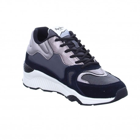 PEPE JEANS - Baskets harlow up run noires