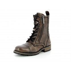 PEPE JEANS - Bottines Melting Flayt Marrons