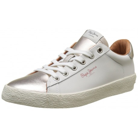 PEPE JEANS - Baskets Portobello blanches et bronze