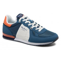 PEPE JEANS - Baskets Sydney basic bleues