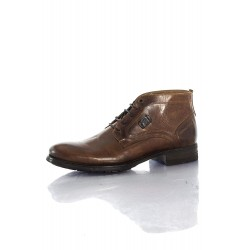REDSKINS - Bottines Filet marrons/cognac